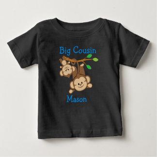 Personalised Boy Monkeys Big Cousin T-shirts