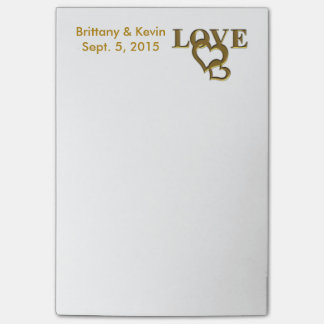Personalised Bride and Groom Post-it Notes