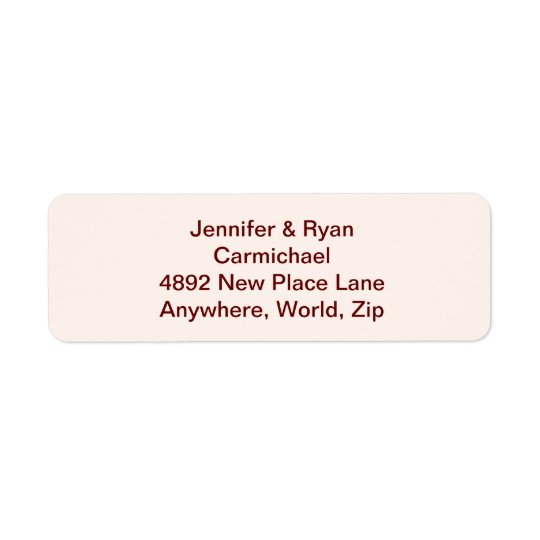 Personalised Bride & Groom Return Address Labels