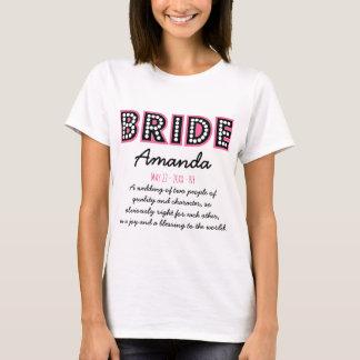 Personalised bride T-Shirt