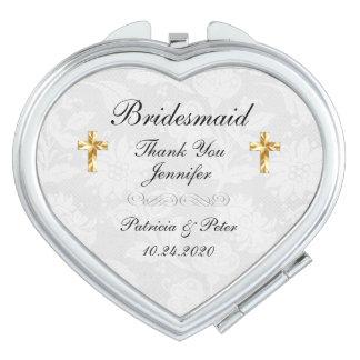 Personalised Bridesmaid Cross Vanity Mirror