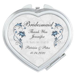 Personalised Bridesmaid Floral Vanity Mirror