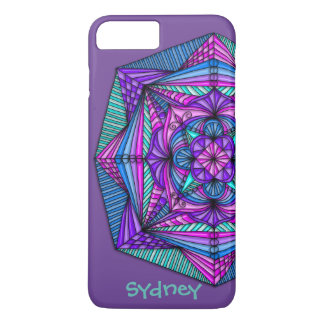 Personalised Bright Mandala iPhone 7 Plus Case
