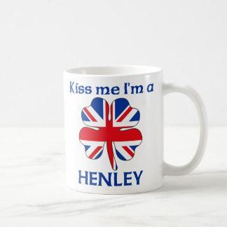 Personalised British Kiss Me I'm Henley Mugs