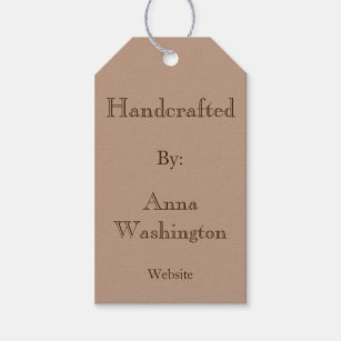Personalised Brown Handcrafted Tag