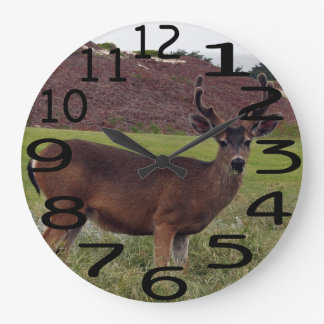 Personalised Buck Deer Wall Clock