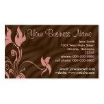 Personalised Business Cards, Feminine Pink / Brown