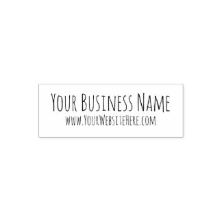 Personalised business name website stamp
