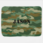 Personalised camouflage colour pattern baby baby blanket