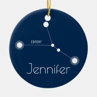 Personalised Cancer Constellation Ornament