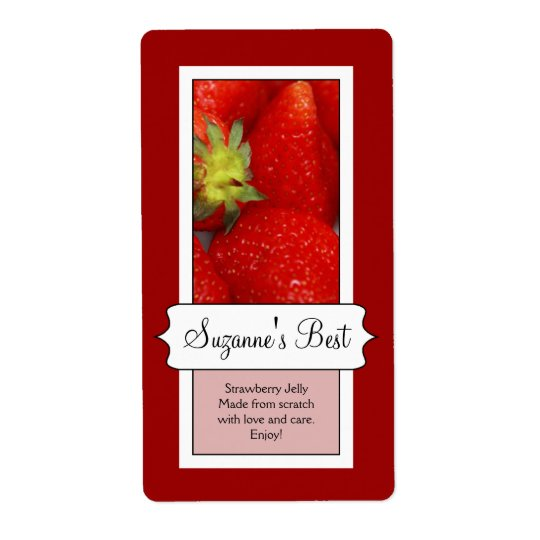 Personalised Canning Jar Label, Strawberry