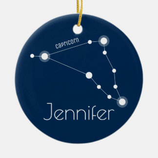 Personalised Capricorn Constellation Ornament