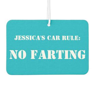 Personalised Car Rule: No Farting car freshener