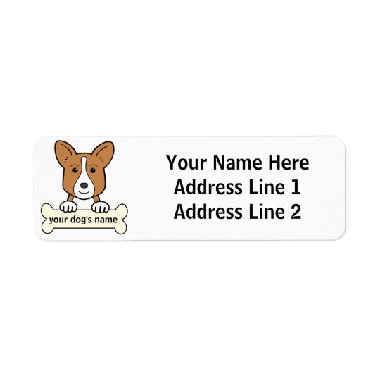 Personalised Cardigan Welsh Corgi Return Address Label