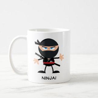 Personalised Cartoon Ninja Coffee Mug