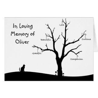 Personalised Cat Bereavement Sympathy Card