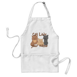 Personalised Cat Lady Standard Apron