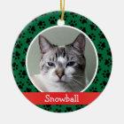 Personalised Cat Pet Photo Ornament