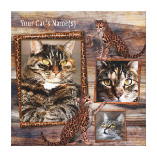 Personalised Cat Photo Wrapped Canvas