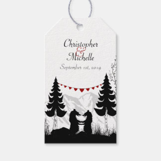 Personalised Charming Mountain Bears Wedding