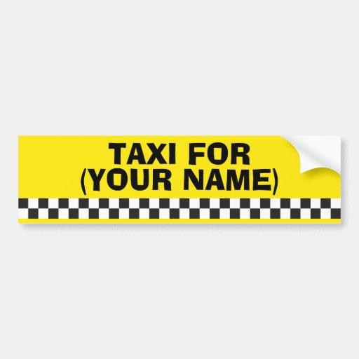 Personalised Chauffeur Taxi Bumper Sticker Bumper Sticker