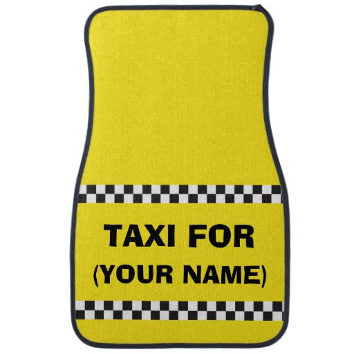 Personalised Chauffeur Taxi Car Mats Floor Mat