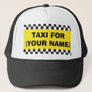 Personalised Chauffeur Taxi Hat