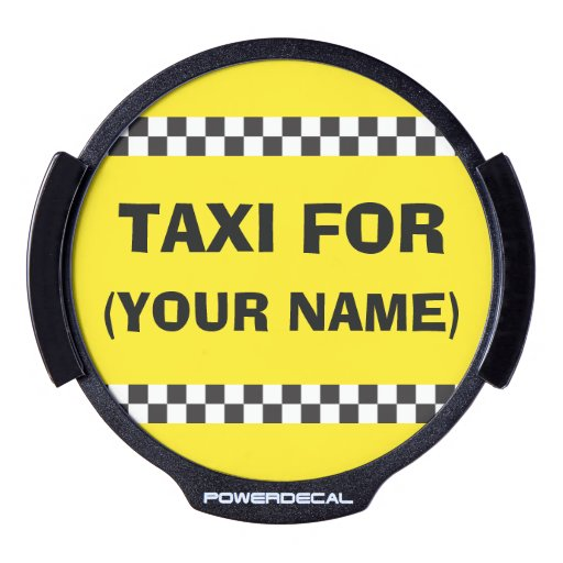 Personalised Chauffeur Taxi LED Window Decal