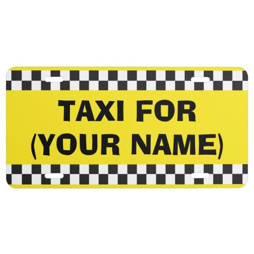 Personalised Chauffeur Taxi License Plate
