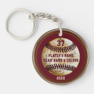 Personalised Cheap Baseball Gifts for Boys Double-Sided Round Acrylic Key Ring