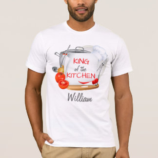 Personalised chef t-shirt King of the Kitchen