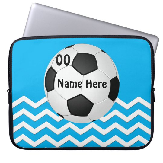 Personalised Chevron Soccer Laptop Cases for Girls