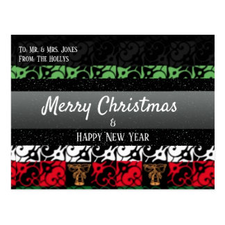 Personalised Chic Ugly Holiday Greeting Postcard