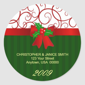 Personalised Christmas Address Labels Stickers