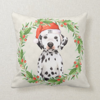 Personalised Christmas Holiday Dalmatian Cushion