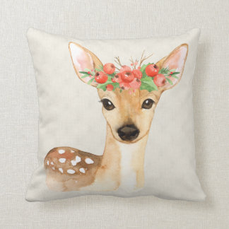 Personalised Christmas Holiday Deer Cushion