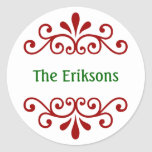 Personalised Christmas Name Stickers