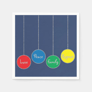 "Personalised Christmas Napkins ""Tree Ornaments"" Paper Napkins"