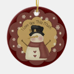 Personalised Christmas Snowman Love Ornament