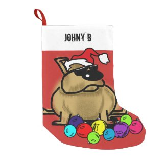 Personalised Christmas Stocking Cool Dude Dog