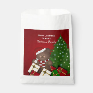 Personalised Christmas Teddy Bear Favour Bags