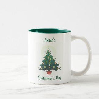 personalised christmas tree mugs