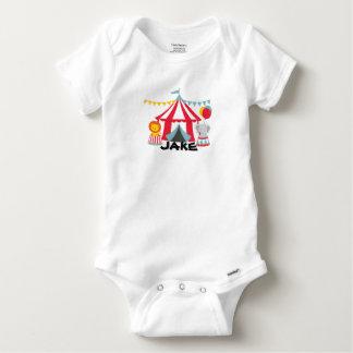 Personalised Circus Theme Birthday Baby Body Suit Baby Onesie