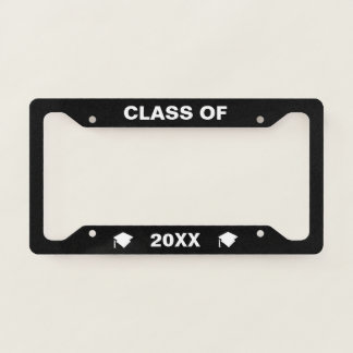 Personalised Class Of 2018 License Frame