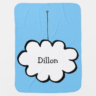 Personalised Cloud on a String Baby Blanket