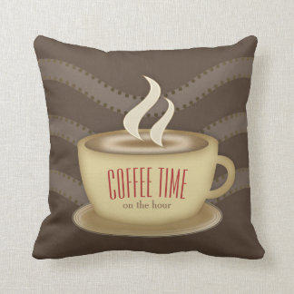 Personalised Coffee Cup Throw Pillow