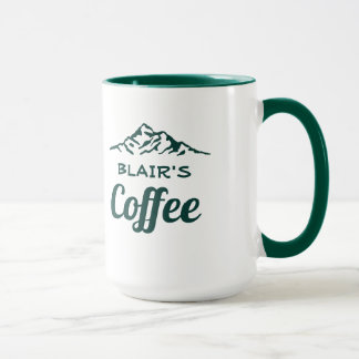 Personalised Coffee Mug with Mountains