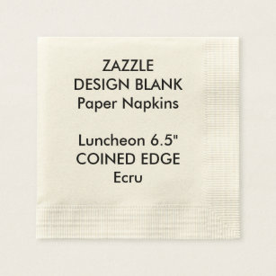 Personalised Coined Edge Luncheon Paper Napkins Disposable Napkin