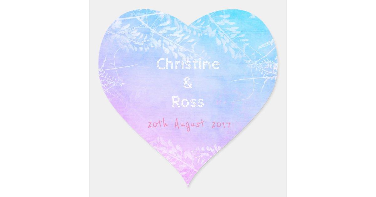 personalised colourful floral wedding sticker zazzle   au