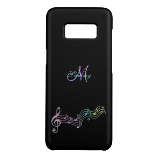Personalised Colourful Music Notes Galaxy S8 Case